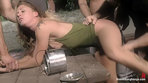 Reconnecting with Old Classmates - College girl gets gangbanged!