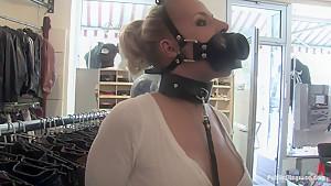 Hot German Blonde gets fucked in public