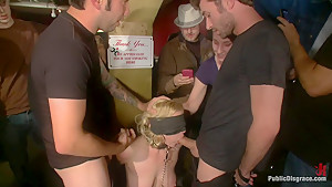 Hot Public Disgrace Member Experiences Public Sex and Bondage for the First Time