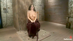 Sexy girl next door is bound & suspended, stretched to the limits of the human bodySo helpless!