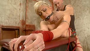 Fabulous fetish xxx movie with hottest pornstars Derrick Pierce and Satine Phoenix from Dungeonsex