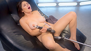 Incredible fetish porn movie with hottest pornstar Raven Rocket from Fuckingmachines