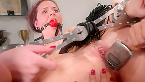 Amazing fetish adult clip with horny pornstars Caroline Pierce and Sandra Romain from Whippedass