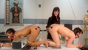 Incredible fetish, lesbian xxx movie with hottest pornstars Asphyxia Noir, Bobbi Starr and Skin Diamond from Wiredpussy