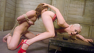 Fabulous fetish porn clip with amazing pornstars Lorelei Lee and Riley Shy from Wiredpussy