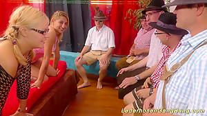 lederhosen swinger party orgy