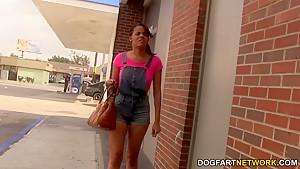 Aria Salazar sucks white strangers - Gloryhole