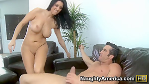 Billy Glide tastes his father's mistress - busty brunette bombshell Dylan Ryder