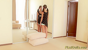 flexible real teen doll gets stretched