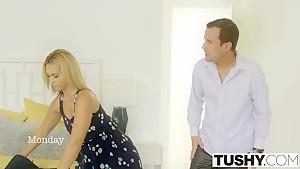 TUSHY Babysitter Kelsi Monroe Gets Anal at Work