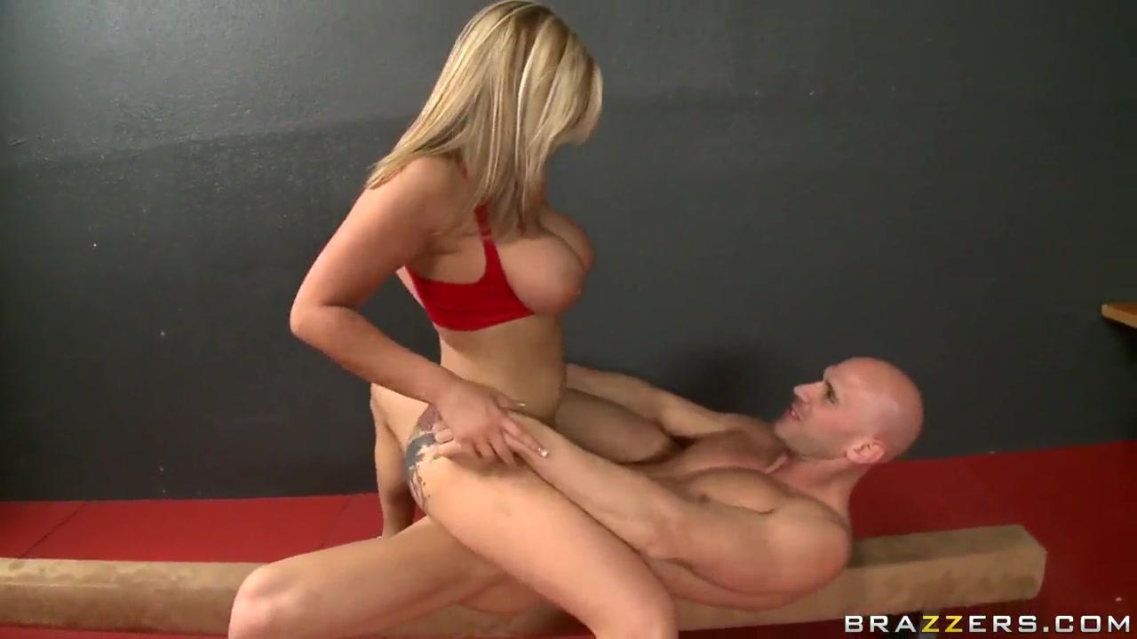 Passionate blonde big tits