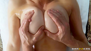 Stunning Eve Laurence gets great full body massage by Johnny Sins