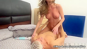 Fabulous pornstars Silvia Saint, Silvia Saige in Crazy Cumshots, College xxx movie
