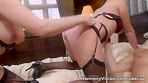 Fabulous pornstars Emma Leigh, Cathy Heaven in Hottest Big Ass, Pornstars sex scene