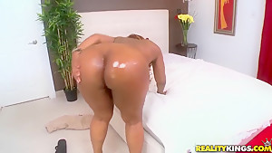 Big assed Layla Monroe rides hard cock