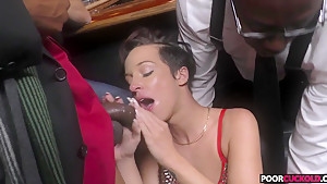 Horny HotWife Jada Stevens Gets Fucked By Two BBCs In Front Of Her Cuckold