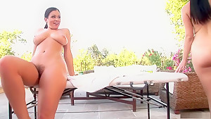 Best pornstars Jelena Jensen and Aria Giovanni in hottest brazilian, outdoor porn scene
