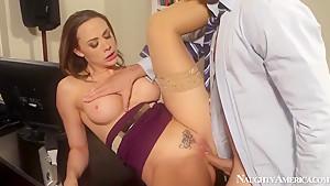 Chanel Preston and Ryan Driller office sex