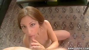 Alexa Rydell sucked her lover's big hard schlong