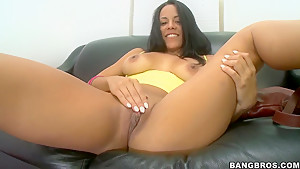 Luna Star hot audition tape with solo and blowjob