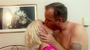 Horny pornstar in crazy dildos/toys, lingerie adult scene