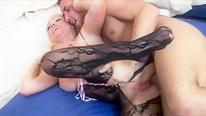 Fabulous pornstars Cindy Behr and Anaya Leon in amazing dp, big tits sex video