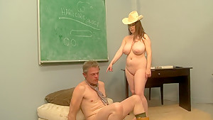 Horny pornstar Desiree Deluca in fabulous mature, facial adult clip