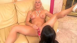 Fabulous pornstars Sabrina Banks and Holly Heart in crazy lesbian, masturbation porn movie