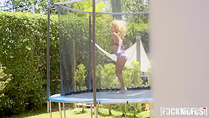 Riley Star In Trampoline Cock Worship