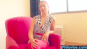PHILAVISE- Phat ass Philly chick Sabien Rose sits on cock