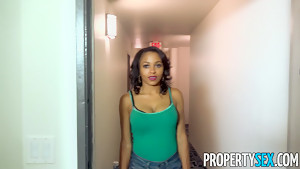 PropertySex Cute Ebony Anya Ivy Has To Pay Back Free Rent