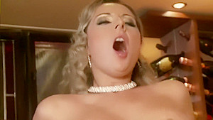 Blonde milf fucked on a bar table