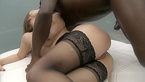 Dominica enjoys the girth of a juicy black cock