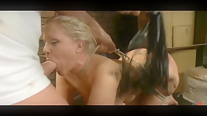 Hot blonde mature being used