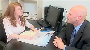 Nikki Rhodes - The Cute Office Redhead Gets Drilled