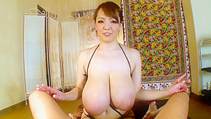 Hitomi Titty Fucks Him Like Never Before