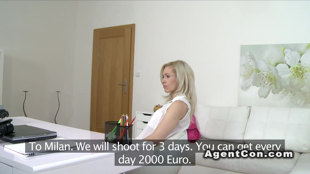 Fake agent bangs blonde cuttie in lingerie