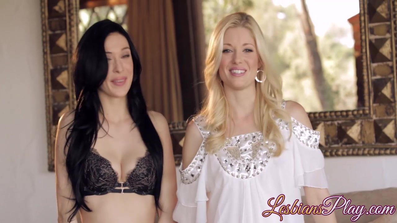 Aiden Ashley and Charlotte Stokely have sex on the couch